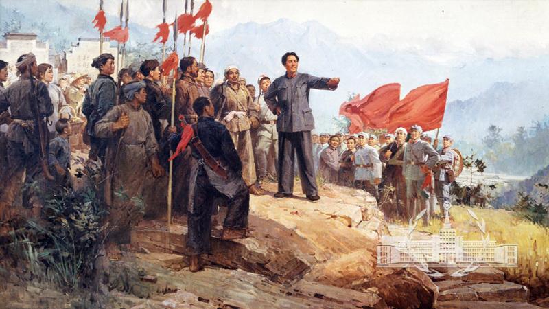 油画《毛主席在井冈山》 - 中国军网