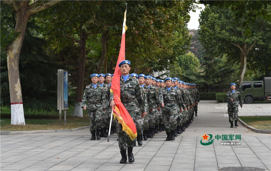 参加第十九批赴利比里亚维和任务的官兵。
