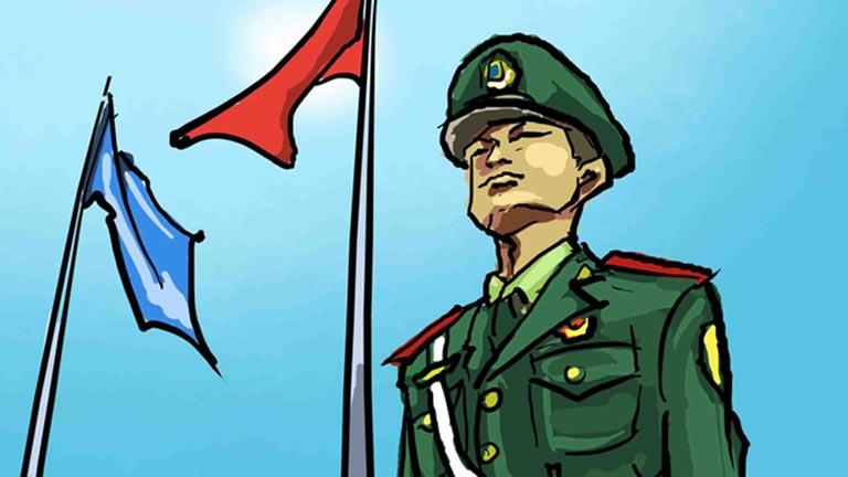 武警卡通头像高清图片
